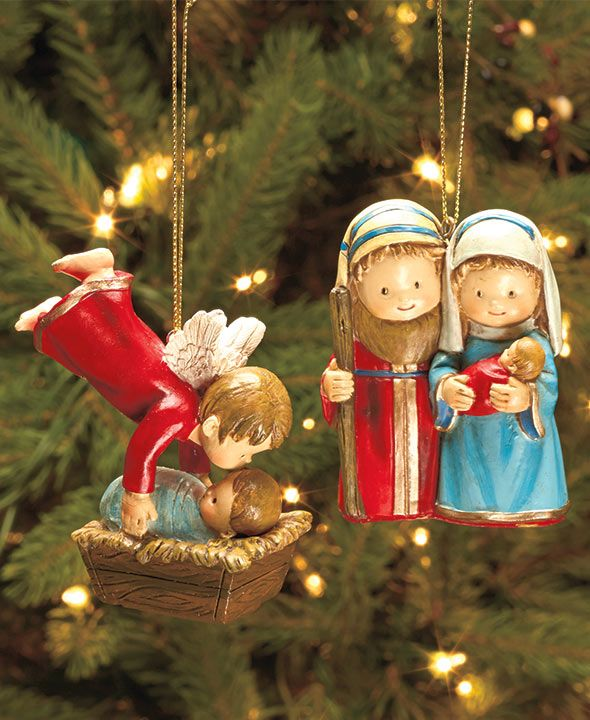 Complete Nativity or Ornament Sets