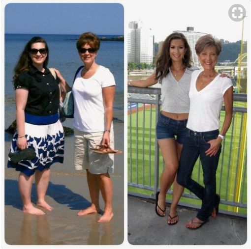 Before picture taken in June, 2009. After picture taken June 30, 2017. — with Cami Marie, Cami Marie and Kim Miller Taylor | from Before and After Fruit Facebook page