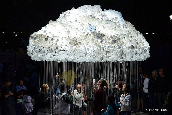 6,000 Light-bulbs Cloud Installation // Caitlind Brown   Afflante.com