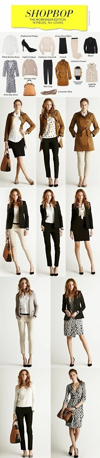 14 pieces, 10+ looks for work ... Wouldn't it be nice if I knew how to shop smart
