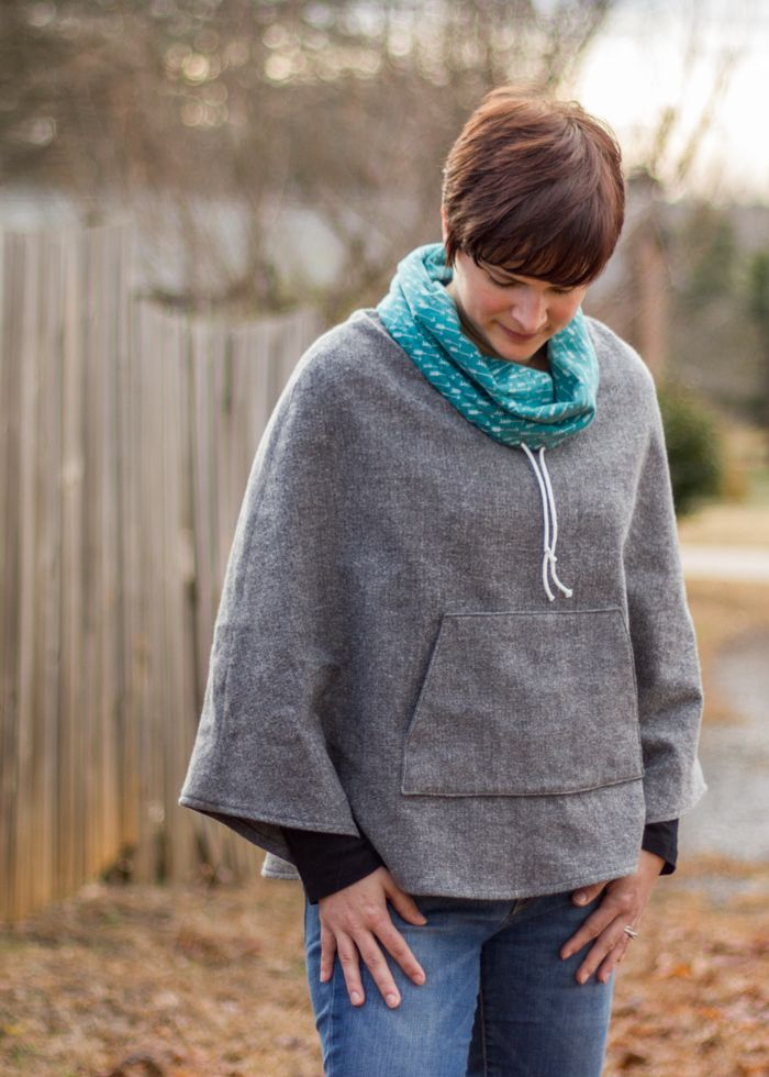 popover poncho for selfish sewing week