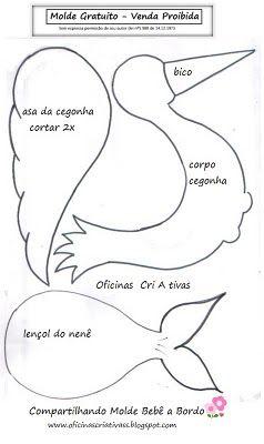 BABY SHOWER~ Pattern for Stork/CIGUEÑA