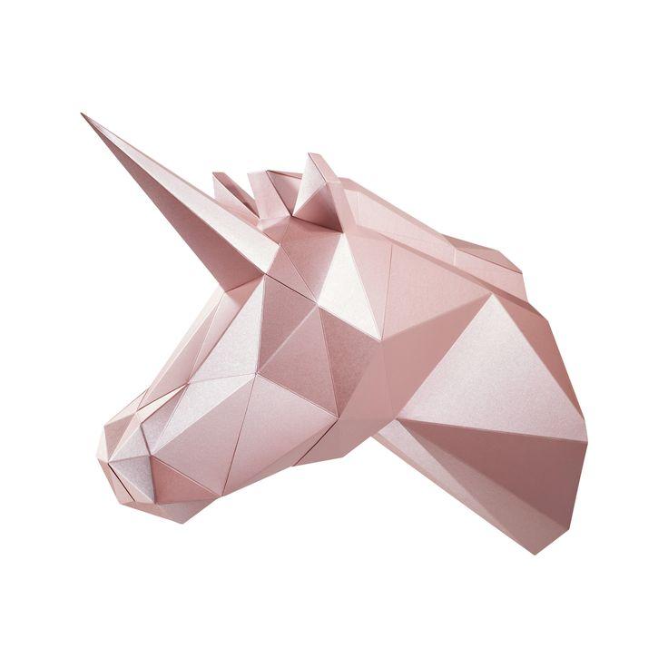PAPA Play art Polygon art Unicorn Fantasy Pink