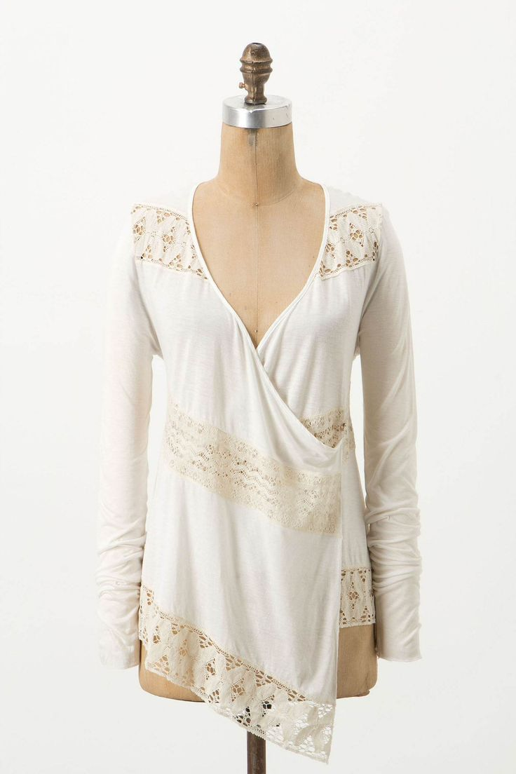 Tilly Cardigan - soft and feminine wrap cardigan with lace inserts.  Rayon and linen