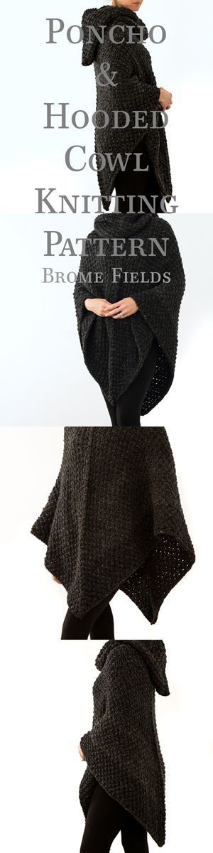 Poncho & Hooded Cowl Knitting Patterns by Brome Fields