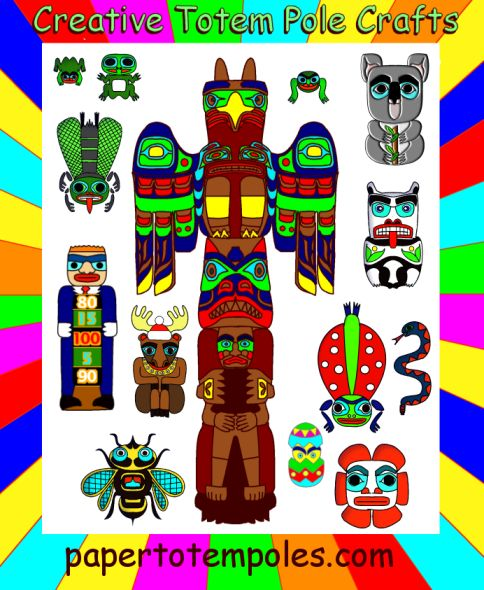 PIN THIS Pacific Northwest Native American style Totem Pole Craft Activities for Kids and child organizations