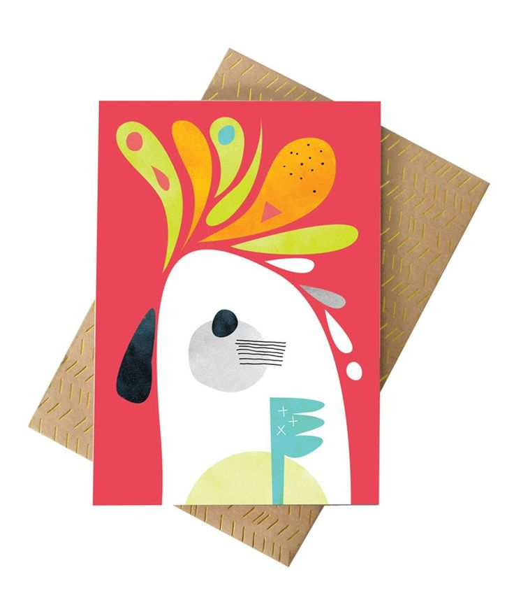 Cockatoo Greeting Card. | http://www.huntingforgeorge.com