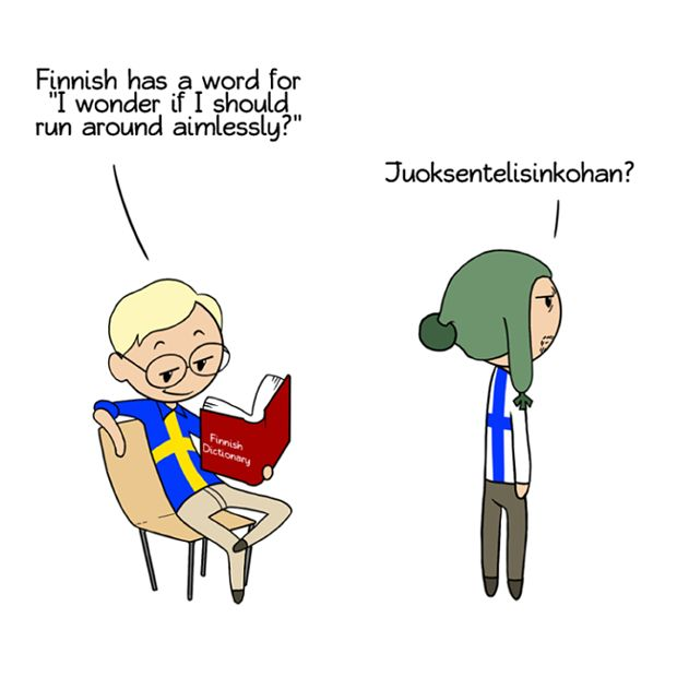 Finnish words... juokentelisinkohan (although it may not actually be in a dictionary, the parts of the word translate that way)
