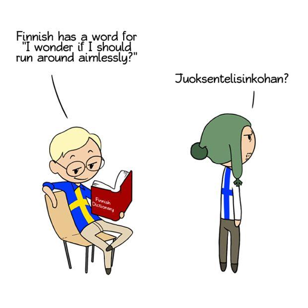 No, our longest word in finnish is: kumarreksituteskenteleentuvaisehkollaismaisekkuudellisenneskenteluttelemattomammuuksissansakaankopahan (102 letters) but my favourite sentence is: kokoo koko kokko, koko kokkoko, koko kokko....