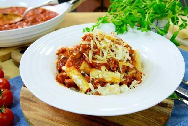 Paolo Robertos smakrika pasta med italiensk korv.