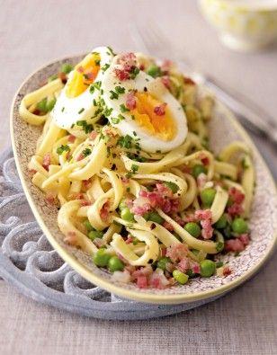 Pasta Pronto mit Pfefferbutter und Ei. Noch mehr Nudel-Rezepte finden Sie auf LECKER.de