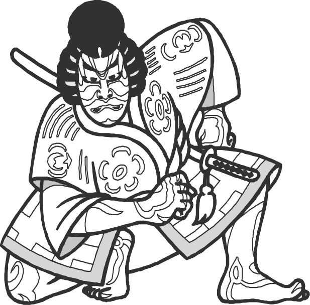 free japanese art coloring pages - photo#40