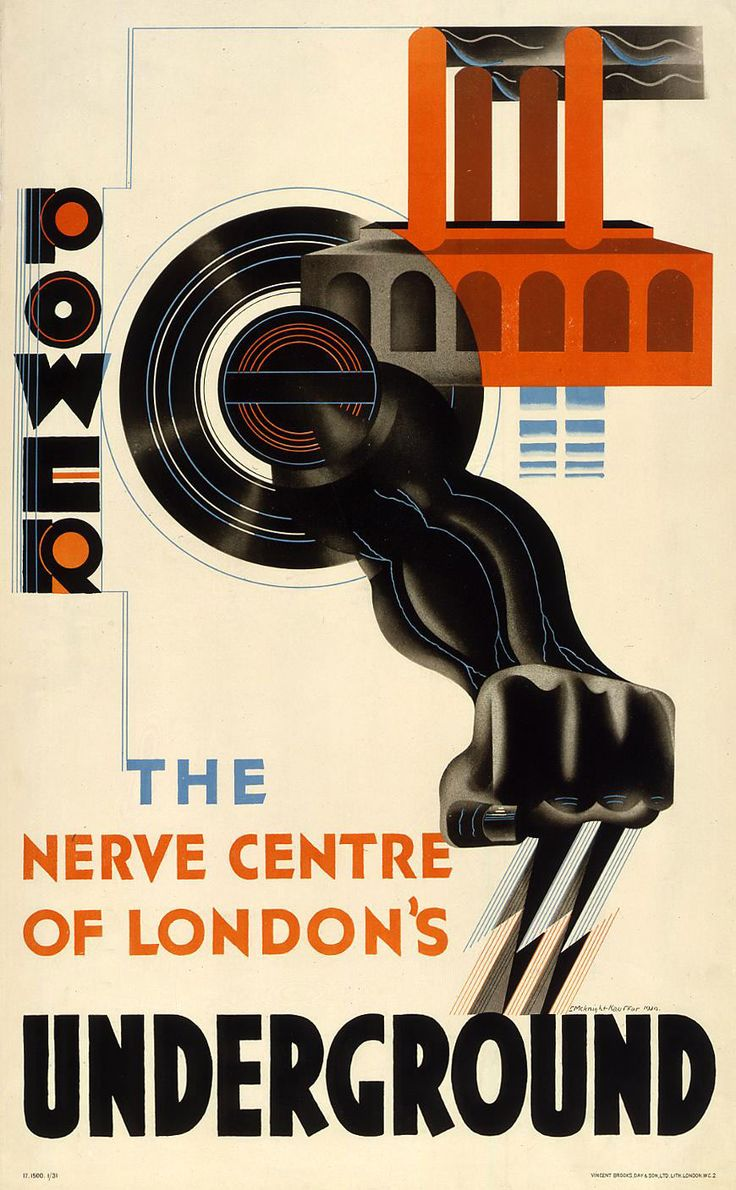Edward McKnight Kauffer Power The Nerve Centre