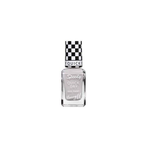 Barry M Speedy Quick Dry Nail Paint 6 Pit Stop (£2.99) ❤ liked on Polyvore featuring beauty products, nail care, nail polish, barry m and barry m nail polish