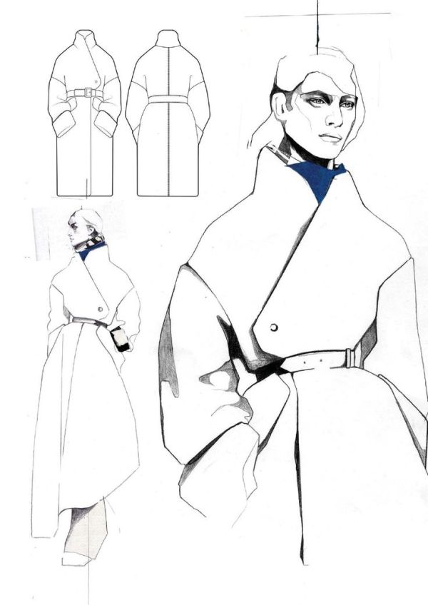 fashion design portfolio layout sample