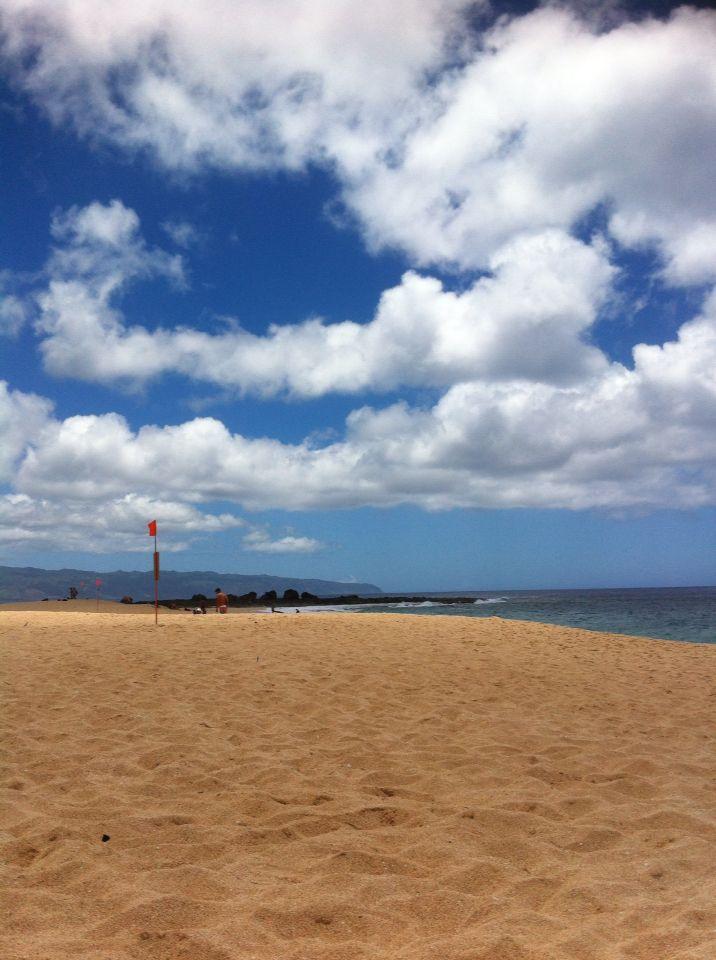 I love the beach.  -Keiki's beach, Hawaii