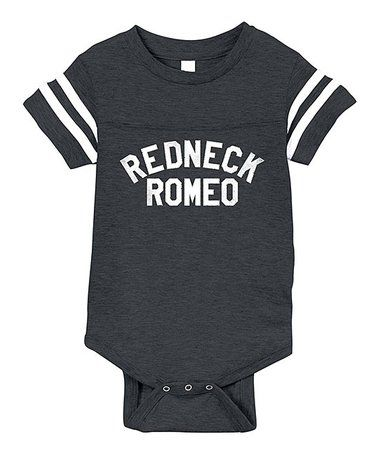 $12.99 marked down from $28! Vintage Smoke 'Redneck Romeo' Bodysuit - Infant #funny #redneck #country #zulilyfinds