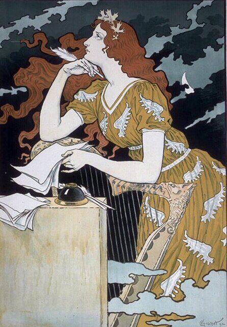 "Eugène Grasset (1845-1917) / ""Encre Marquet"", 1892"
