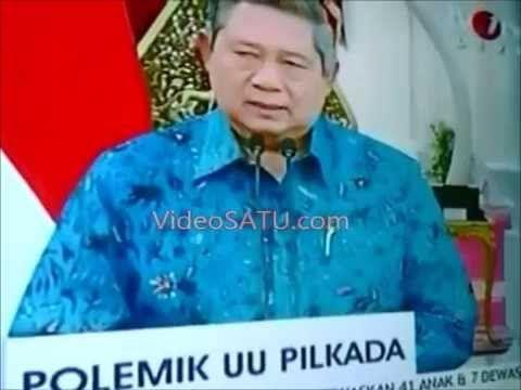 SBY KELUARKAN PERPPU PILKADA 'Batalkan' UU Pilkada Melalui DPRD