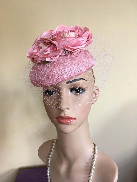 Pink Pillbox Hat Wedding Pinkascot Hats Flower