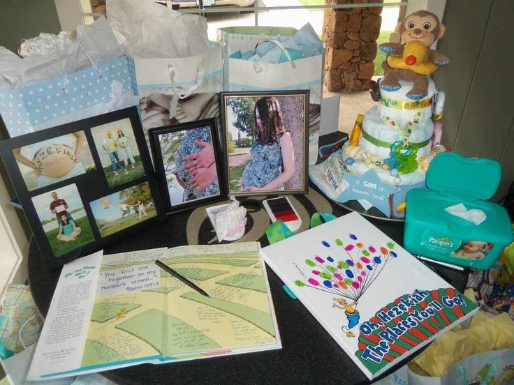 Gift And Guest Sign In Table For Baby Shower Party Ideas