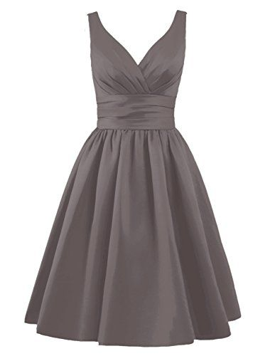 Tidetell Sexy 1950s Bridesmaid Dresses V Neck with Ruffles Short Evening Party Gowns Grey size 8 Tidetell http://www.amazon.com/dp/B017U1UN6C/ref=cm_sw_r_pi_dp_sJAZwb18HXD63