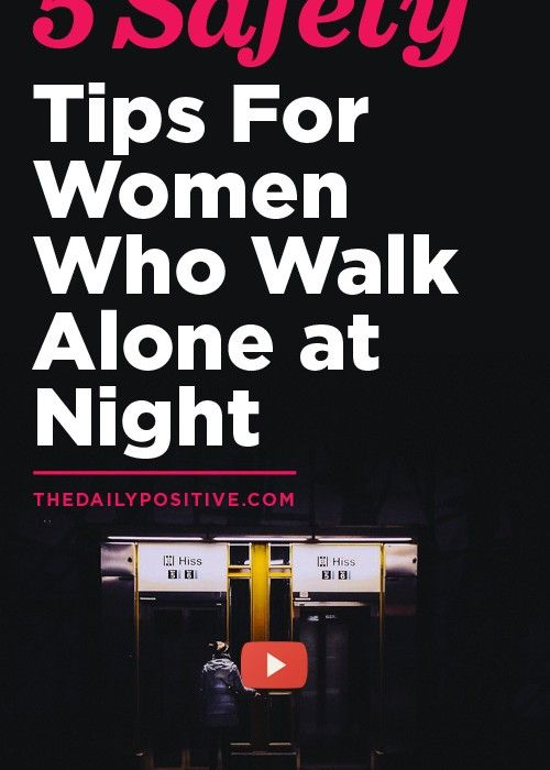 how to stay safe walking at night