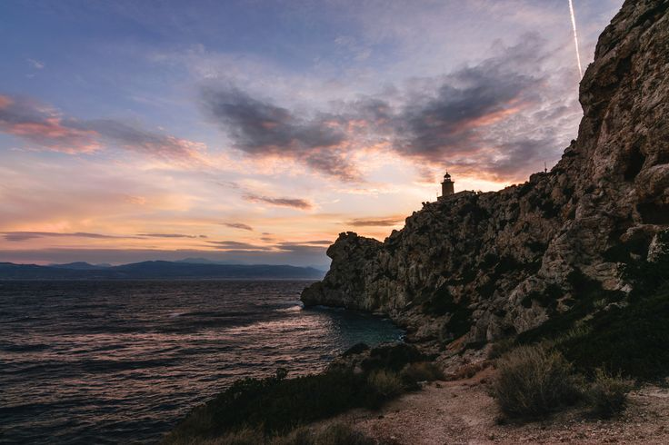 Lighthouse - Melagavi lighthouse during golden hour