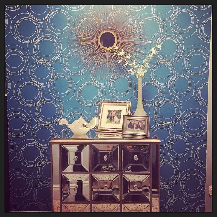 Repositionable Wallpaper For Kitchen Accent Wall Ideas: Accent Wall In Our Foyer. Target Removable Wallpaper