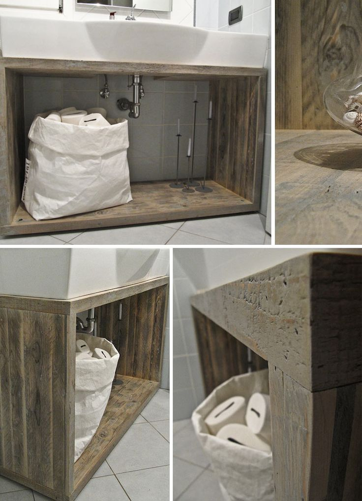 Bagni arredati con materiale di riciclo cerca con google shabby style pinterest mobiles - Mobile bagno shabby ...