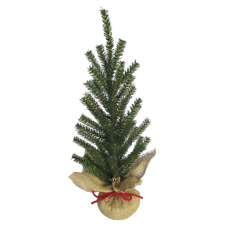 Small Artificial Christmas Tree with Burlap Base target