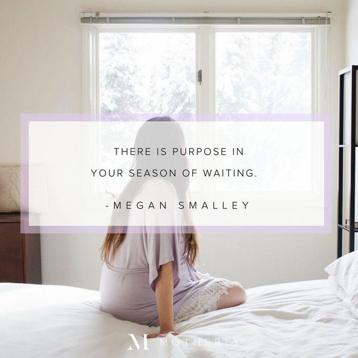 """There is purpose in your season of waiting."" —Megan Smalley // quotes for TTC, motherhood, marriage and life"