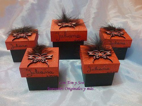 Souvenirs de 15años - Cajitas para cumple de 15 Mariposas