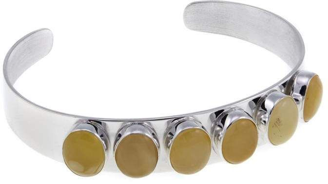cf218fa066f51 Mine Finds by Jay King Jay King Butterscotch Amber 6-Stone Sterling ...