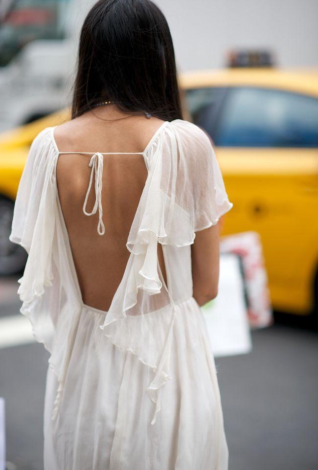 Entre légèreté et dos nu audacieux, cette robe estivale a tout bon (robe Topshop 2012 - photo Where Did U Get That)