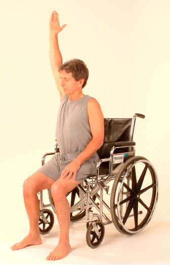 yoga for back pain - lots of examples of poses to do in a chair or wheel chair