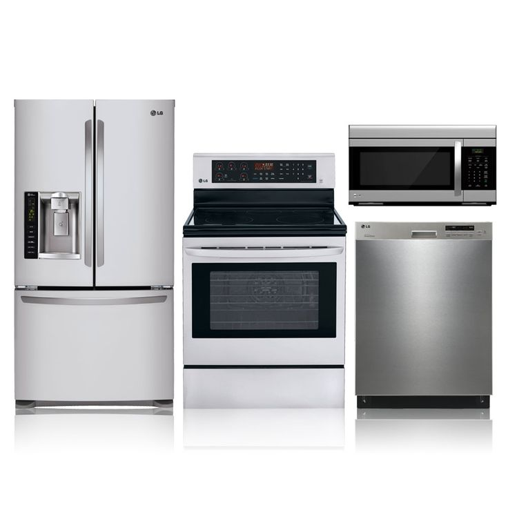 655 4 Piece Stainless Steel Electric Kitchen Appliance Package Special