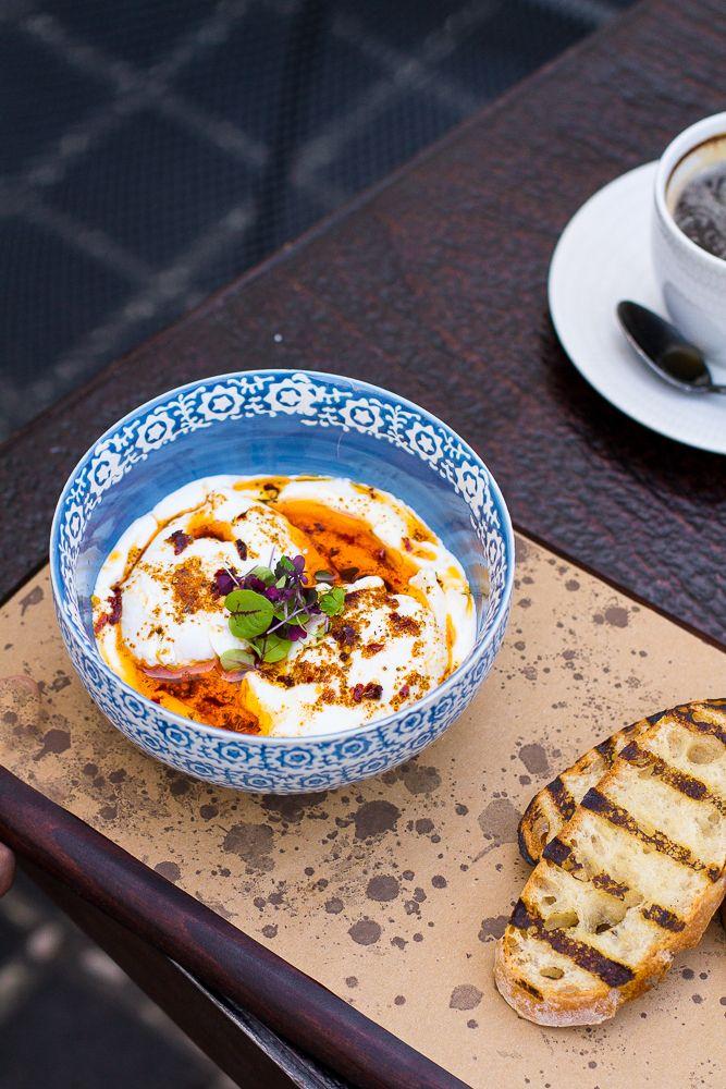 Turkish Poached Eggs on Garlic Yogurt