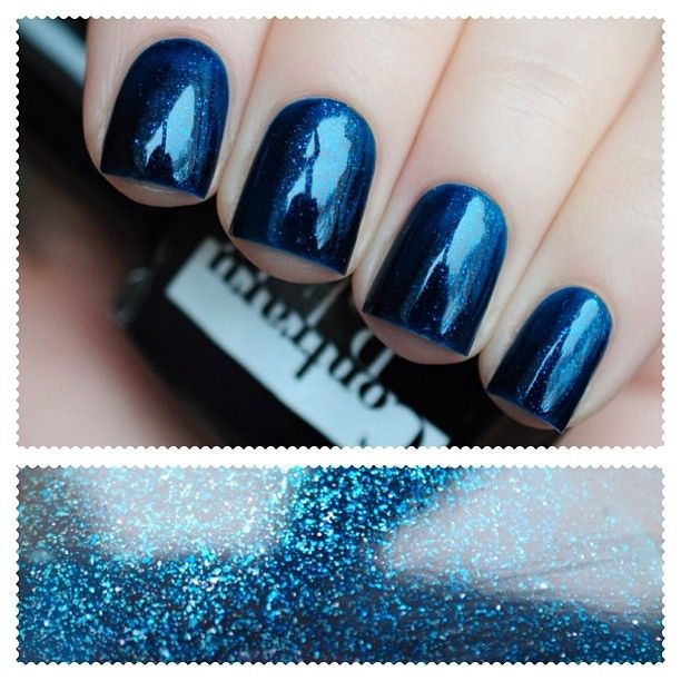 ContraryPolish #BrightNight шикарное темно-синее желе с бирюзовым и серебристым шиммером
