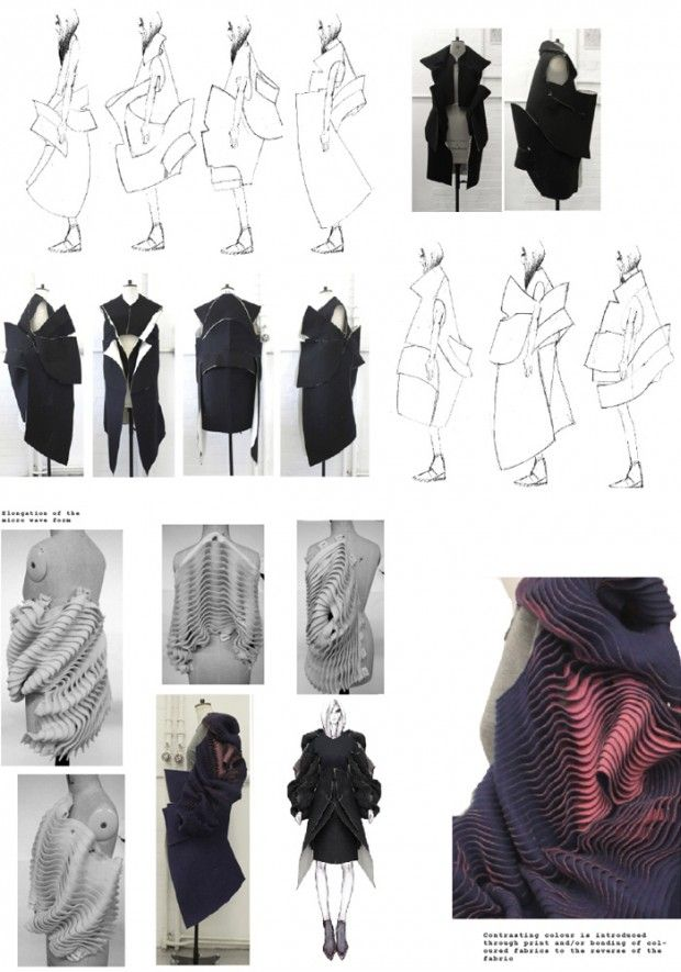 Fashion Portfolio - fashion design development; fabric manipulation; fashion illustration; fashion sketchbook // Katie Roberts-Wood