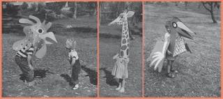 Charles Eames-designed animal masks from Life magazine 1951. cc @_designer___