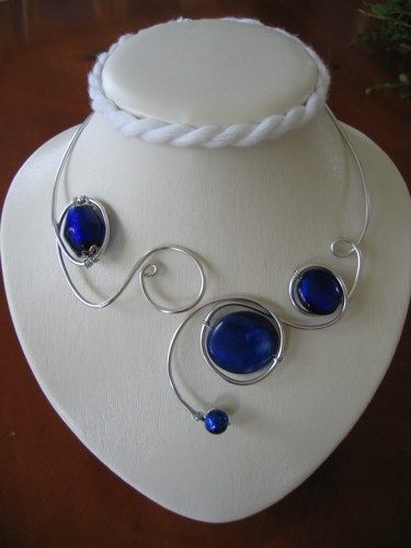 Wedding jewelry - Prom jewelry - Royal blue necklace  | LesBijouxLibellule - Jewelry on ArtFire