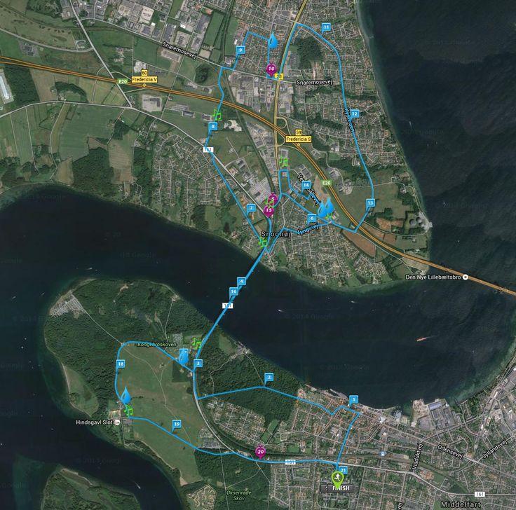 Ruten | Lillebælt Halvmarathon
