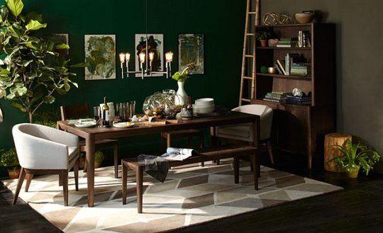 Paint Color Portfolio Dark Green Dining Rooms Green
