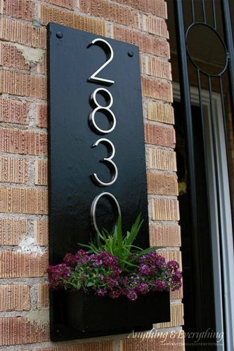 s 11 gorgeous address signs that ll make neighbors stop in admiration, crafts, curb appeal, outdoor living, Make a wall planter to display your number