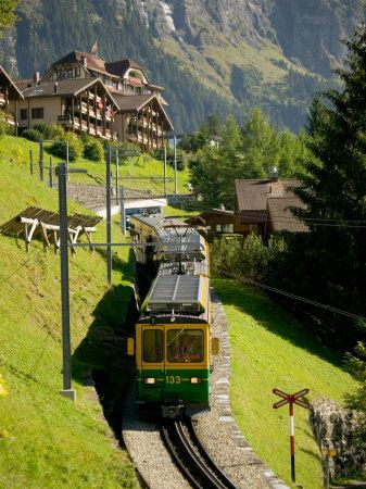 "Wengen, Switzerland. I took the ""green"" train to get there."