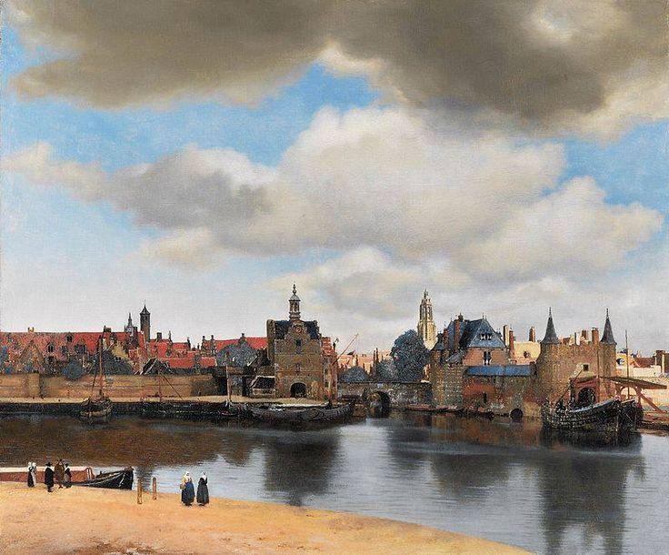 Jan Vermeer Veduta di Delft 1660-1661 circa olio su tela 96,5×115,7 cm Mauritshuis, L'Aia