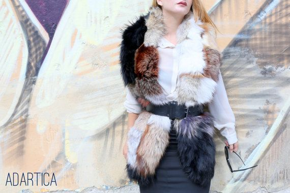 Extra Long Full Skin Fox Fur Scarf