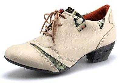 c0f6445d7aec TMA Damen Leder Schuhe Halbschuhe Pumps Gr. 36-42 Neu 6101 (39 ...