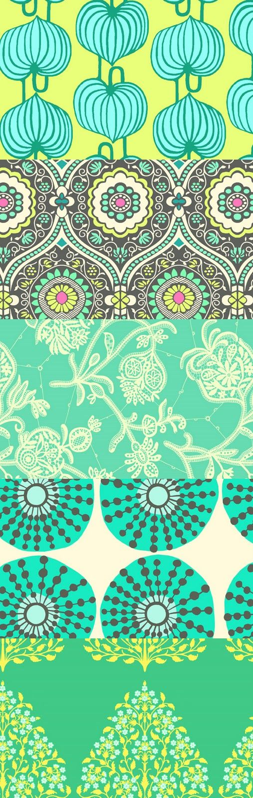 Amy Butler Fabric aqua teal turquoise
